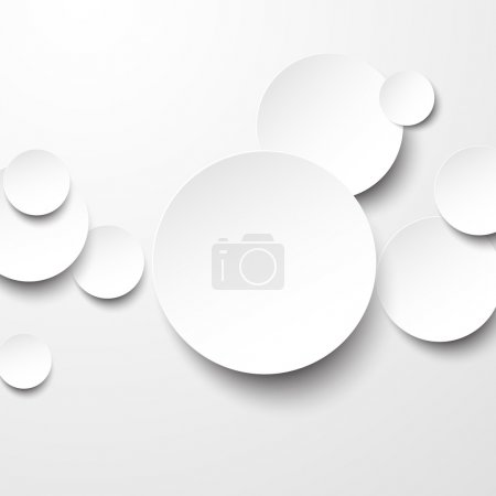Vector abstract background composed of white paper...