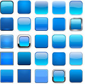 čtverec modré app ikony