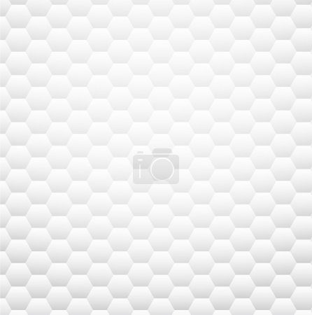 Illustration for White texture pattern. Clear honeycomb design. Vector eps10. - Royalty Free Image