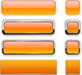 Orange high-detailed modern web buttons.