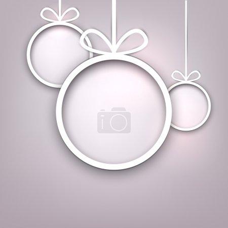 Paper round christmas balls.