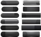 Black high-detailed modern web buttons