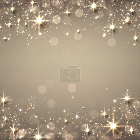 Illustration pour Golden christmas texture abstraite fond. Illustration de vacances avec étoiles et scintillements. Vecteur . - image libre de droit