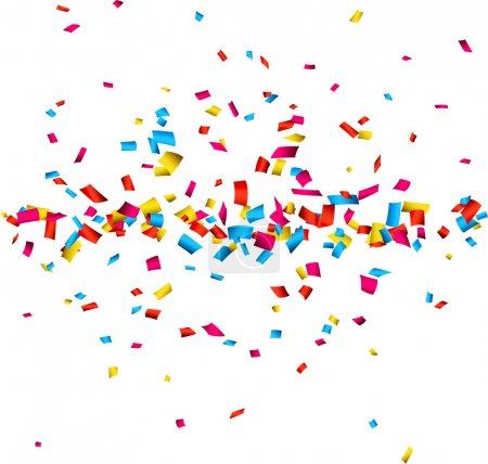 Illustration pour Fond de célébration coloré avec des confettis. Illustration vectorielle . - image libre de droit