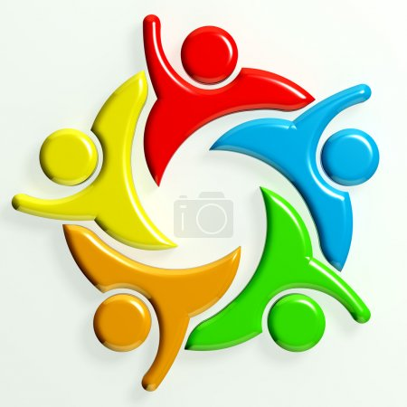 Photo for 3D Logo Teamwork Hi 5 - Royalty Free Image