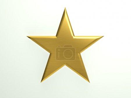 Foto de Icono de estrella con textura oro - Imagen libre de derechos