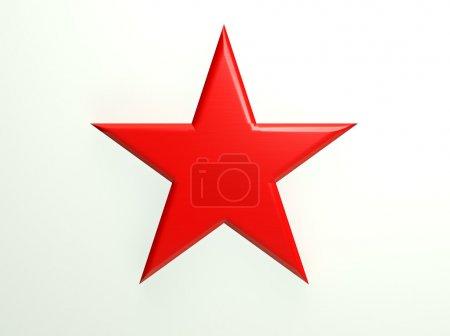 Photo pour Icône étoile texturé rouge - image libre de droit