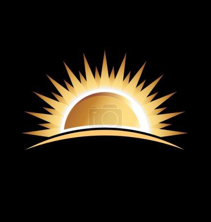 Gold sun