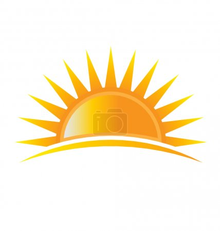Illustration for Power Sun Logo - Royalty Free Image