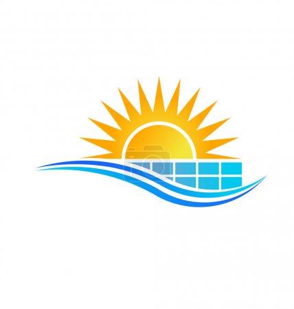Illustration pour Vecteur de panneau solaire - image libre de droit