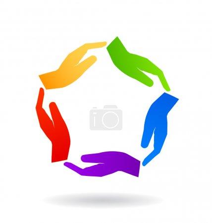 Touching Hands logo