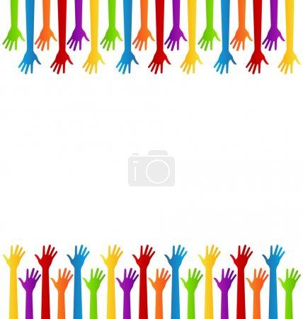 Illustration pour Atteindre la conception des mains - image libre de droit