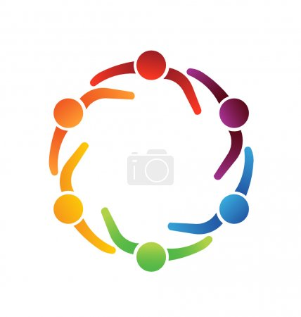 Illustration for Vector Logo Team Meeting 6 Design Icon - Royalty Free Image