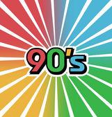 Vector 90s Vintage Color Background