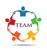 Vector Teamwork Human Chain 5 Group of People