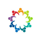 Group Business 9 person image logo