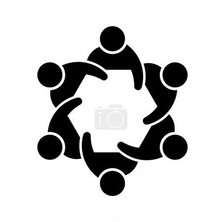 Illustration pour Concept d'image des membres d'une société ou d'un comité - image libre de droit