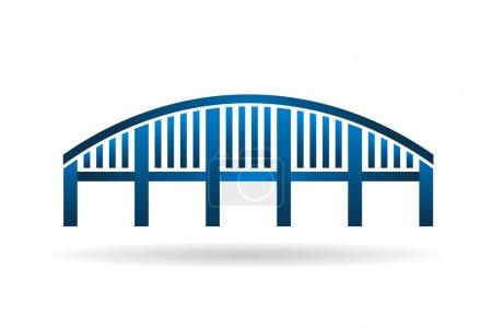 Arch Bridge structure image logo