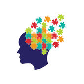 Concept of thought to solve brain Logo
