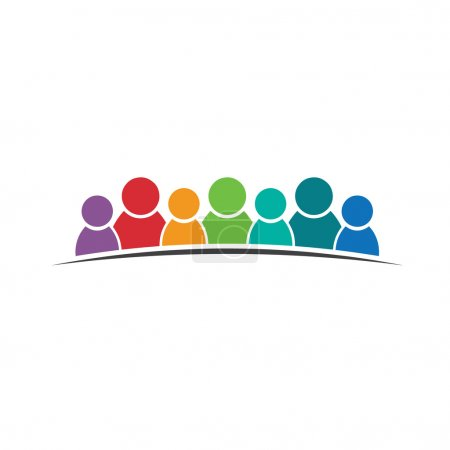Teamwork people 7. Group of people logo