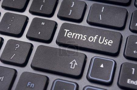 Photo pour Un message sur le clavier, pour les concepts d'utilisation . - image libre de droit