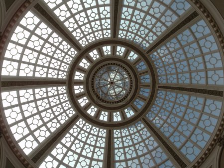 Looking upward at the Old Emporium dome