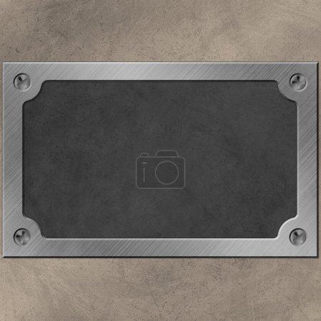 Photo pour Une plaque nominative ou une plaque murale avec vis - image libre de droit