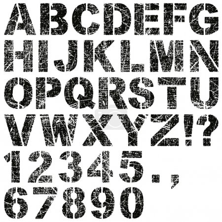 Stencil Letters and Numbers