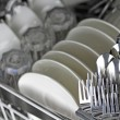 Dishwasher after cleaning process...
