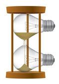 Light bulb sand clock