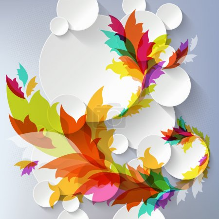 Illustration for Abstract 3D Template with floral elements - Royalty Free Image