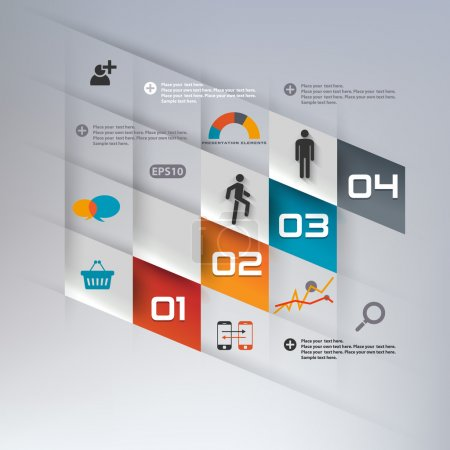 Illustration for Step by step infographics illustration - Royalty Free Image