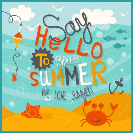 Photo for Funny summer illustration - Royalty Free Image