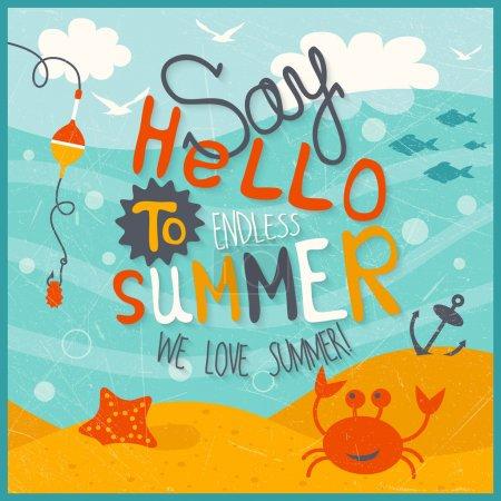 Funny summer illustration