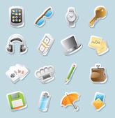 Sticker icons for personal belongings