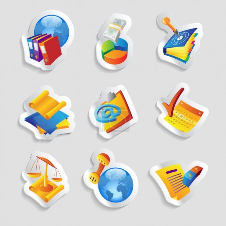 Illustration for Icons for business and finance. Vector illustration. - Royalty Free Image