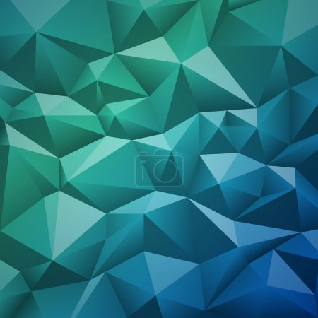 Illustration for Geometric abstract low-poly paper background. Vector eps-10 with transparency. - Royalty Free Image