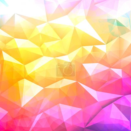 Illustration for Geometric abstract colorful low poly background. Vector eps10. - Royalty Free Image