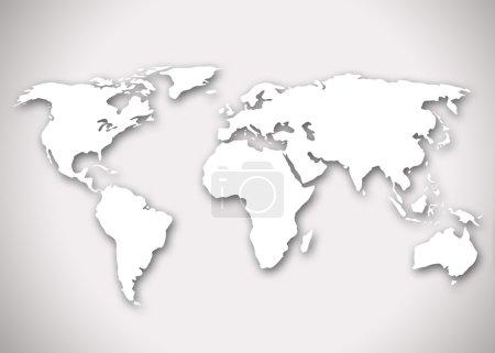 Photo pour Image d'une carte du monde - image libre de droit