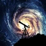 Silhouette of Telescope...