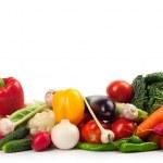 Fresh ripe vegetables on white background...
