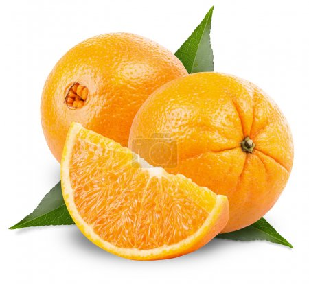 Photo for Orange fruit isolated on white background. Clipping Path - Royalty Free Image