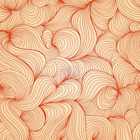 Illustration for Retro waves texture (seamless pattern) - Royalty Free Image