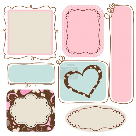 Illustration for Blank cute frames for text - Royalty Free Image