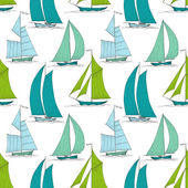 Boats on water seamless pattern marine vector