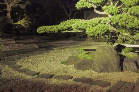 Night in zen garden