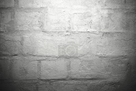 Photo for Rough white brick wall background - Royalty Free Image
