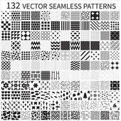 Set of vector geometric polka dot floral decorative patterns