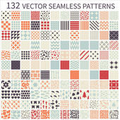 Set of seamless retro vector geometric polka dot decorative patterns