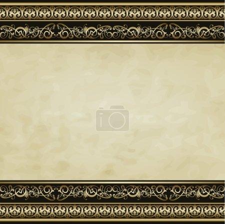 Illustration for Vintage vector background in the form picture frame for presentation - Royalty Free Image